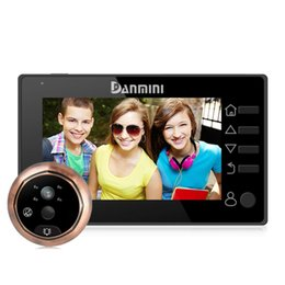 digital peephole viewers NZ - Danmini YB-43CHD-M 4.3 inch Screen 3.0MP Security Camera No Disturb Peephole Viewer Digital Peephole Door Bell, Support Night Vision & PIR M