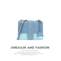 $enCountryForm.capitalKeyWord Australia - Nice2019 Woman Design Niche Hit Color Organ Single Shoulder Span Chain Concise Small Square Package Bags