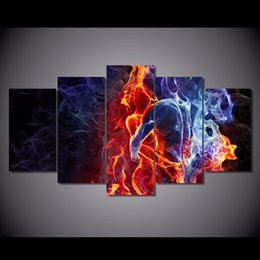$enCountryForm.capitalKeyWord NZ - Flame Figures,5 Pieces HD Canvas Printing New Home Decoration Art Painting  Unframed Framed