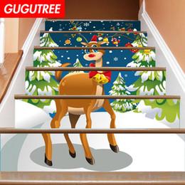 $enCountryForm.capitalKeyWord NZ - Decorate Home 3D Christmas deer cartoon art wall Stair sticker decoration Decals mural painting Removable Decor Wallpaper G-677