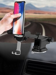 $enCountryForm.capitalKeyWord NZ - New Telescopic Adjustable Foldable Long Neck Arm Rotatable Car Mount Cell Phone Holder Automatic lock Sucking Stand Holder for Cell Phone