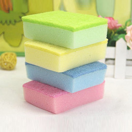 Eco Sponge Kitchen Australia - 10Pcs High Density Sponge Kitchen Cleaning Brushes Washing Towels Wiping Rags Sponge Scouring Pad Microfiber Dish Cleaning Cloth
