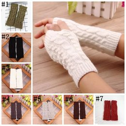 Wholesale Fingerless Gloves Winter Warm Women Gloves Twist Knitted Glove For Teenager Girls Students Outdoor Cycle Gloves MMA1151