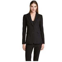 $enCountryForm.capitalKeyWord NZ - Black Two Buttons Women Pantsuits Tuxedo 2 Piece Set Women Business Suit Female Office Uniform Ladies Pantsuits Custom Made