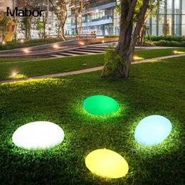 $enCountryForm.capitalKeyWord Australia - New Rechargeable LED Ball waterproof Light Stone Lamp RGB Landscape Light Walkway Path Garden Party Outdoor Poolside Home Decor Buried Light