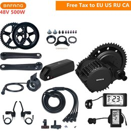 Motors for bicycles online shopping - Bafang fun V W BBS02B Mid Drive Motor C961 C965 Kits With V AH Lithium Battery For Electric Bicycle Conversion Kits