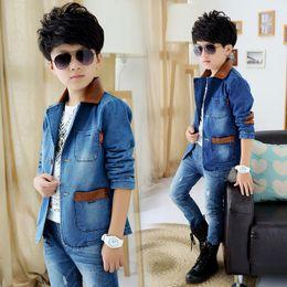 $enCountryForm.capitalKeyWord Australia - High quality boy's jacket new boys denim jacket   spring and autumn jackets for boys children's suit kids suit