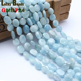 $enCountryForm.capitalKeyWord NZ - Fashion Jewelry 8-10mm irregular natural genuine aquamarina 15inches shaped stone beads for jewelry making