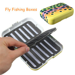 plastic lure case Australia - Mini Fishing Tackle Box Slit Foam Insert Fish Lures Hooks Baits Plastic Storage Holder Square Case Fishing Accessories