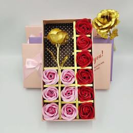 $enCountryForm.capitalKeyWord Australia - 12 simulation soap flower gift box gold foil rose Chinese Valentine's Day practical creative birthday gift