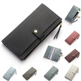 Slim Phone Wallet Australia - Fashion Women Pu Leather Slim Long Zipper Wallet Purse Clutch Thin Phone Coin Credit Card Holder Handbag Fab Women Bag
