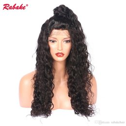 Pre Human Hair NZ - Brazilian Virgin Remy 360 Full Lace Front Human Hair Wigs Rabake Afro Kinky Curly Pre Plucked Lace Wig Natural Hairline for Black Women