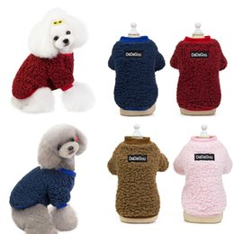 dog clothes xxl winter UK - Pet Dogs Hoodie Simple Autumn Winter Dog Clothes For Small Medium Dog Teddy French Bulldog Cat Cotton Coat ropa para perro S-XXL