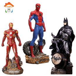 Figures Australia - 30CM Batman Action Figures Toys Brinquedos Super Hero Spider Man Iron Man Anime Lover Collectible Model Toy Boys Christmas Gift
