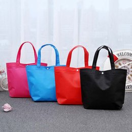 $enCountryForm.capitalKeyWord Australia - Hot 36*45cm Foldable Non-Woven Fabric Shopping Bag Reusable Tote Pouch Women Travel Storage Handbag Shoulder Bag with Button