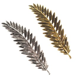 Delicate hair clips online shopping - Fashion Hairpins Vintage Metal Leaf Hair Clip For Women Girl Hair Accessories Hairgrip Delicate Barrettes Retro Feather Clip