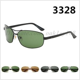 $enCountryForm.capitalKeyWord Australia - Brand Designer Sunglasses Fashion Metal Men Square Driver Driving Mirror Sunglasses 3328 Men And Women Sunglasses UV400 Glass Lens Glasses