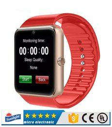Smartwatch Bluetooth Smart Watch For Samsung Australia - High quality battery GT08 Bluetooth Smart Watch support SIM Card Health Watchs for Android Samsung iphone Smartphones Bracelet Smartwatch
