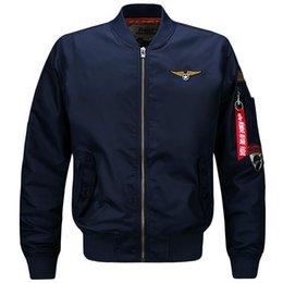Zipper Technology Australia - Wholetide Nice Youthful Popularity Mens Designer Jackets Armband Decoration Face Jackets Men Embroidery Technology Ma1 Pilot Jackets