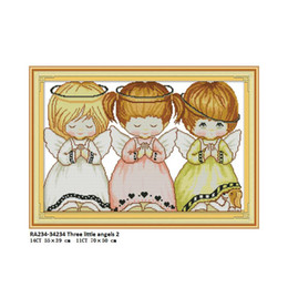 Angels Figures Australia - Needlework,DIY Hand Made DMC 11CT 14CT Cross stitch,Sets For Embroidery kits,Three little Angels RA234 Counted Cross-Stitch Accessory Tools