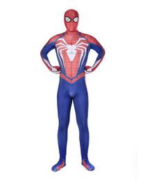 $enCountryForm.capitalKeyWord NZ - Halloween cosplay Superhero costume 3D digital print Zentai anime PS4 Spider-Man Battle Suit spiderman tights jumpsuit