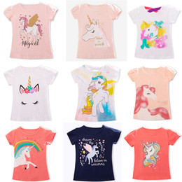 Unicorn Shirts Australia - 2019 Summer Fashion Unisex Unicorn T-shirt Children Boys Short Sleeves White Tees Baby Kids Cotton Tops For Girls Clothes 3 8Y