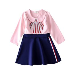 $enCountryForm.capitalKeyWord Canada - New girls high-end embroidered dress fashion brand dress spring long-sleeved shirt summer women's trend T-shirt short sleeve