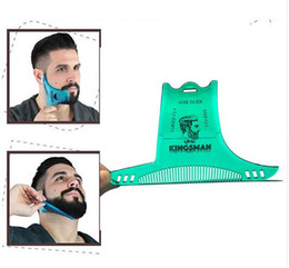 $enCountryForm.capitalKeyWord Australia - New Beard Shaping Styling Template Beard Comb Men Shaving Tools ABS Comb for Hair Beard Trim Template Combs