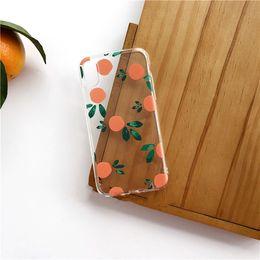 Designs For Iphone Cases Australia - Summer clear phone cover orange fruit design tpu case for apple iphone x xs max 7 8 plus