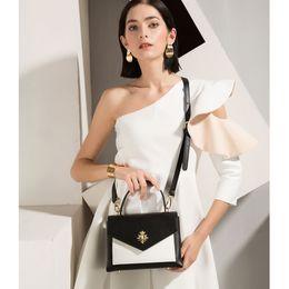 Black Blocks Australia - 2019 new arrival Handle bag Designer Shoulder genuine leather handbag black white color blocking tote OL style handbag