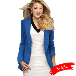 Discount women blazers sale - 2019 Hot Sale Black Women Blazers And Jackets New Spring Autumn Casual Office Women Suits Slim Solid Female Jacket Plus
