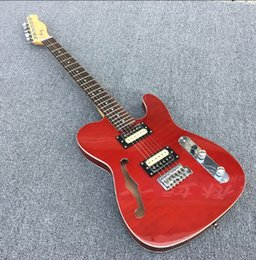Tiger elecTric guiTar online shopping - High quality zebra pickups S hole TL electric guitar tiger stripes under the red body Real photos