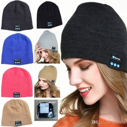 Christmas Stereos NZ - 11Color Bluetooth Hat Music Beanie Cap Bluetooth V4.2 Stereo Wireless Earphone Speaker Microphone Handsfree Of Christmas Party Hats HH7-1915