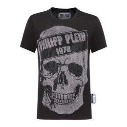 Chinese  2019 new Philip Europe and the United States fashion round neck short-sleeved T-shirt men's skull hot drilling trend fashion Slim cotton men manufacturers