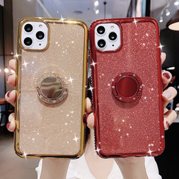 bling note Australia - Magnetic Glitter Bling Diamond Ring Stand Soft TPU Case for iPhone 11 Pro X XR XS Max 8 7 6 6S Samsung S8 S9 S10 5G Plus S10E Note 9 10 10+