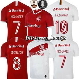 2f0ea757f 19 20 Camiseta de fútbol de Brasil CLUB sport Internacional RED HOME 2019  2020 camiseta de fútbol gris de visitante MUJER N. LOPEZ D.ALESSANDRO  POTTKER