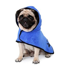 warming tables NZ - Super Absorbent Dog Bath Towel For Small to Large Dogs Blue Brown Uni-Sex Superfine Fiber Towel Pet Health Care Warm Clothing