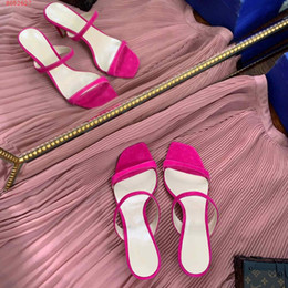 nude color stiletto sandals UK - 2020 summer sandals classic style Pink rose red and blue color fashion design with high heel ladies slippers genuine leather women shoes