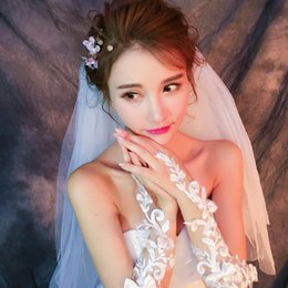 white fingerless wedding long gloves Australia - 2019 Luxury White Lace Bridal Fingerless Gloves Woman Long Wedding Gloves Crystal Wedding Accessories for Brides