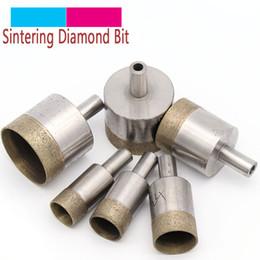 1pc vástago de 10 mm sinterizado de base del diamante Brocas 4-45mm agujero recto Mesa de aserrar taladro de cristal de cerámica de piedra de mármol de plástico en venta