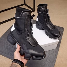 white ankle boots men NZ - New arrivals men black white genuine leather sports ankle boots,brand designer men martin motorcycle boots winter casual shoes size 38-44