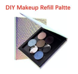 $enCountryForm.capitalKeyWord Australia - Wholesale DIY Makeup Palette Box 7*3.9*0.39 Fish-Scale Pattern Refill Palette Empty Magnetic Face Eyeshadow Blush Powder Foundation