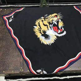 Bee Scarves Australia - tiger head scarves Silk Scarf 70*70cm Women Bee Tiger Head Square Scarf Gift for Love Girlfriend