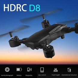 Toptan satış HDRC D8 Katlanabilir WIFI 1080P Dört Drone Kamera HD Quadcopter 20 Dak Uçuş Süresi The 6.6 4K WIFI DHL gemiyi ekseni
