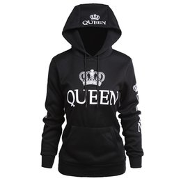 6d3a20386d King sweatshirts online shopping - Women Clothes Designer Couple Hoodies  Casual Hooded QUEEN KING Printed Sweatshirts