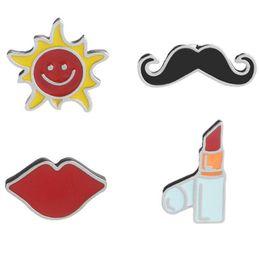 $enCountryForm.capitalKeyWord Australia - Fashion Lovely Ornaments Originality Lipstick Red Lips Mustache The Sun Brooch Cute Cartoon Brooch Pins Colthing Accessories