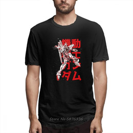 Discount gundam shirt Gundam F91 Camiseta T-shirt Men Cotton O-neck Tshirt Man Casual Top Design Graphic Tee Shirt Anime