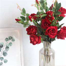 $enCountryForm.capitalKeyWord Canada - Romantic Valentine Gifts for Lover Girlfriend Beautiful Artificial Rose Flowers Colorful Home Wedding Decorative Fake Flowers