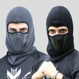 Skull Snowboard Face Mask Australia - Bike Face Mask Winter Cycling Face Mask Cap Thermal Fleece Snowboard Shield Hats Ski Bike