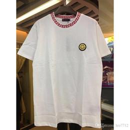 6abdafb79 19ss newest G Fashion casual men's Brand Tshirt Male Short Sleeve T Shirt O- Neck medusa Men snake DOG Letter polo Tee Tops Shirt